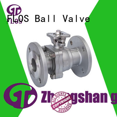 FLOS valveflanged 2-piece ball valve supplier for opening piping flow
