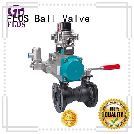 One pc pneumatic-manual carbon steel ball valve/open-close position switch, flanged ends