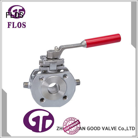wafer one inch ball valve position for opening piping flow FLOS