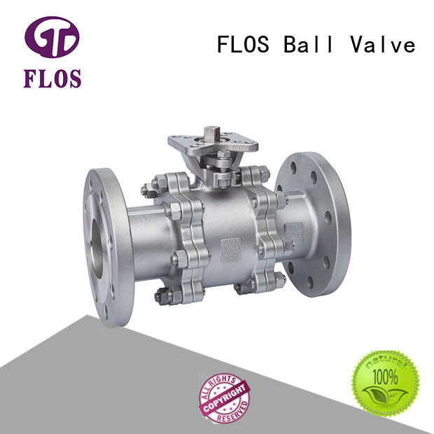 FLOS experienced 3-piece ball valve supplier for opening piping flow