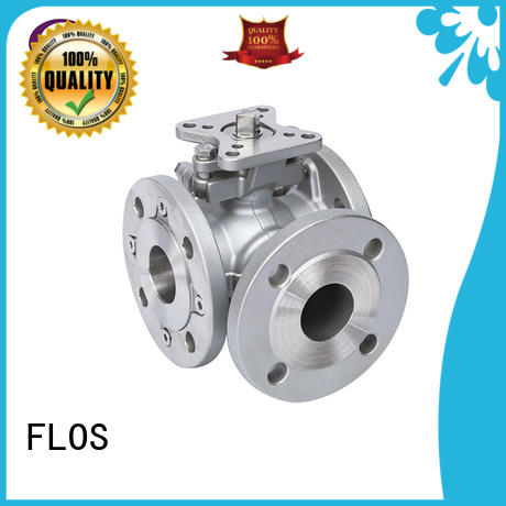 FLOS pneumaticworm 3 way valves ball valves manufacturer for opening piping flow