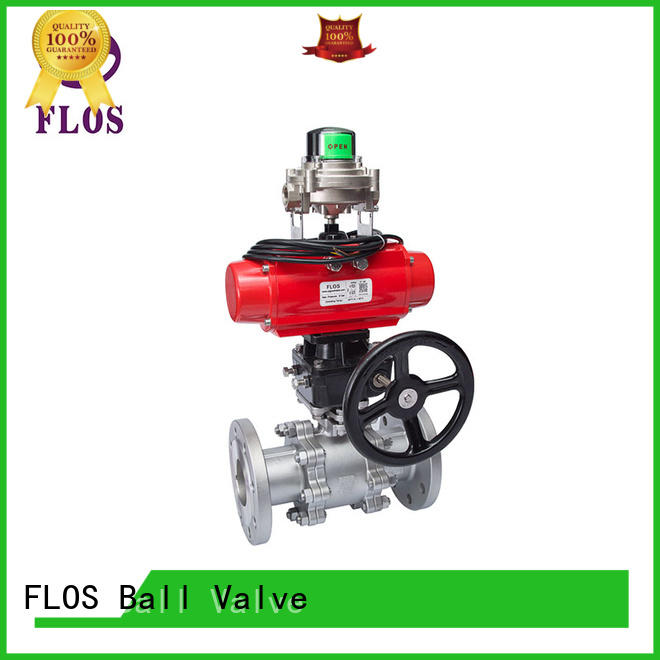 FLOS safety 3-piece ball valve manufacturer for directing flow