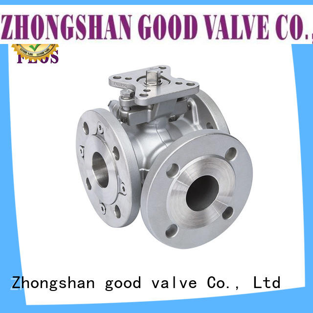 FLOS carbon 3 way ball valve wholesale for opening piping flow