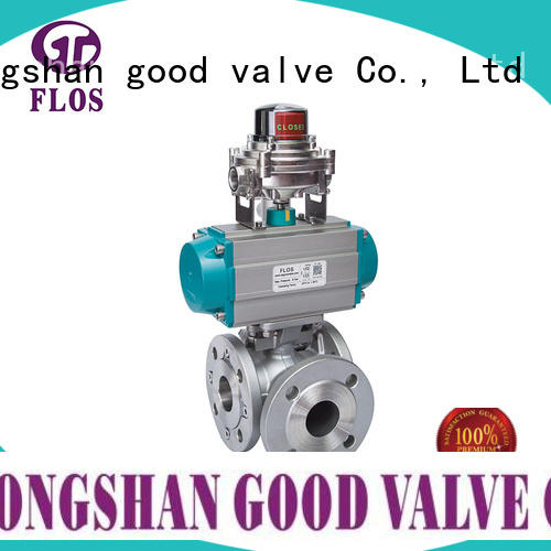professional 3 way flanged ball valve stainless wholesale for closing piping flow