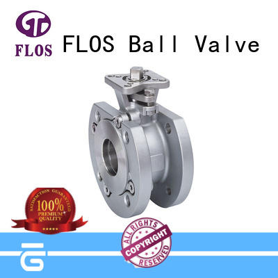 FLOS manual 1 pc ball valve manufacturer for opening piping flow