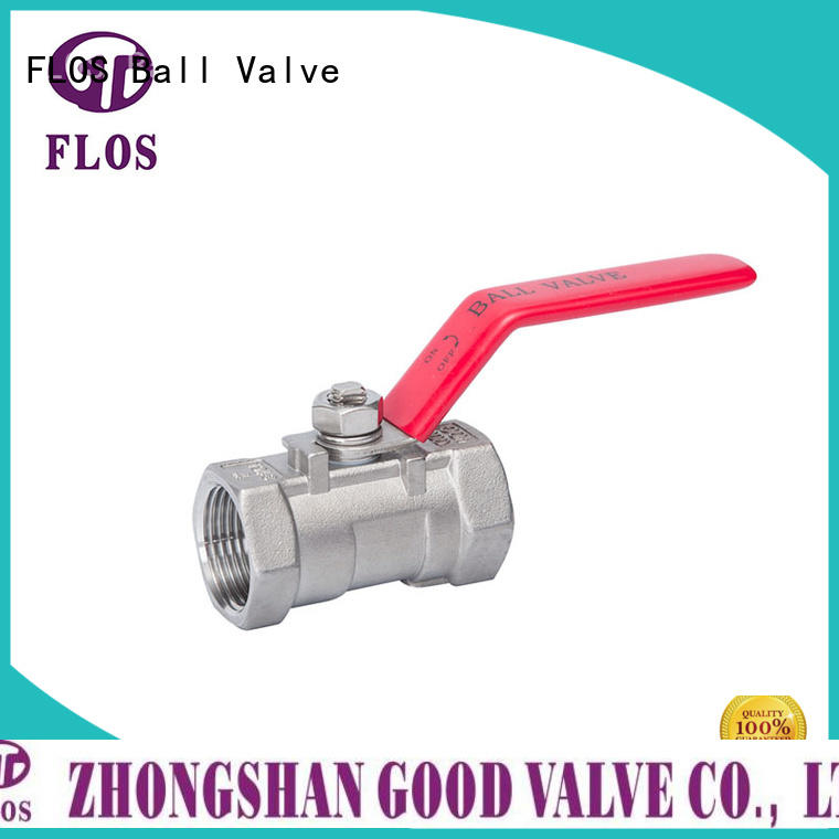 FLOS safety one piece ball valve wholesale for opening piping flow