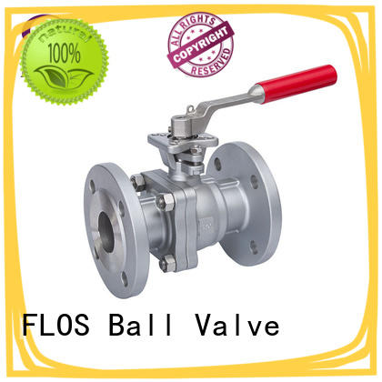 FLOS professional two piece ball valve wholesale for closing piping flow