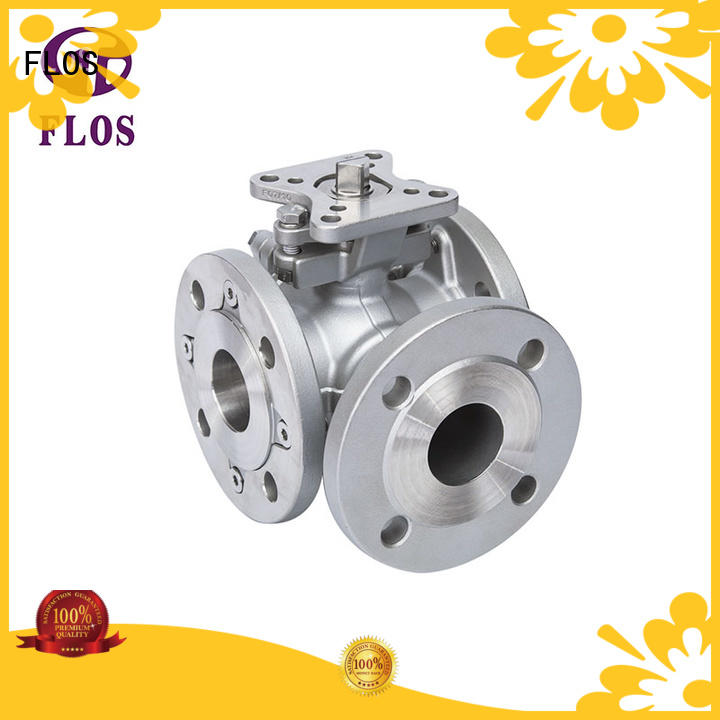 FLOS highplatform three way ball valve manufacturer for opening piping flow