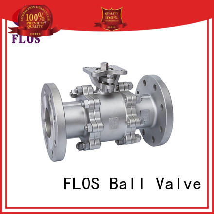 FLOS High-quality 3 piece stainless ball valve for business for closing piping flow