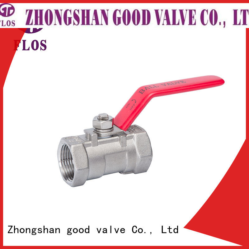 FLOS heat 1 piece ball valve supplier for closing piping flow