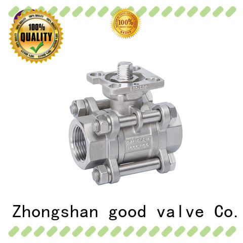 FLOS professional 3 piece stainless ball valve manufacturer for opening piping flow