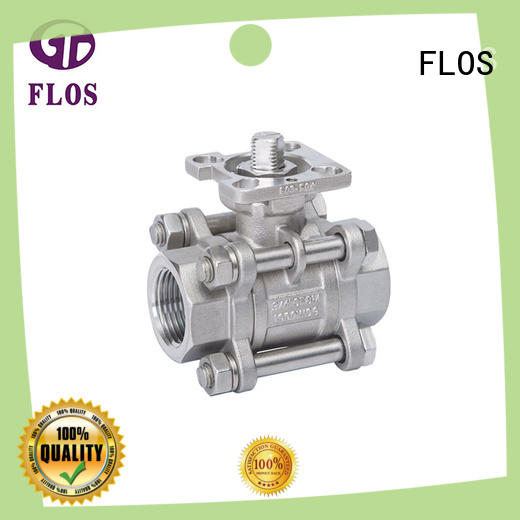 FLOS flanged three piece ball valve wholesale for directing flow