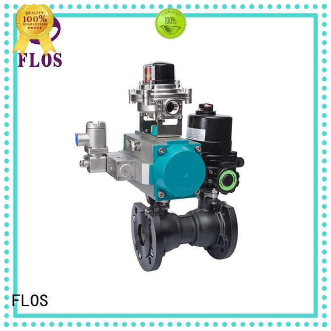 One pc pneumatic-electric carbon steel ball valve with open-close position switch, flanged ends