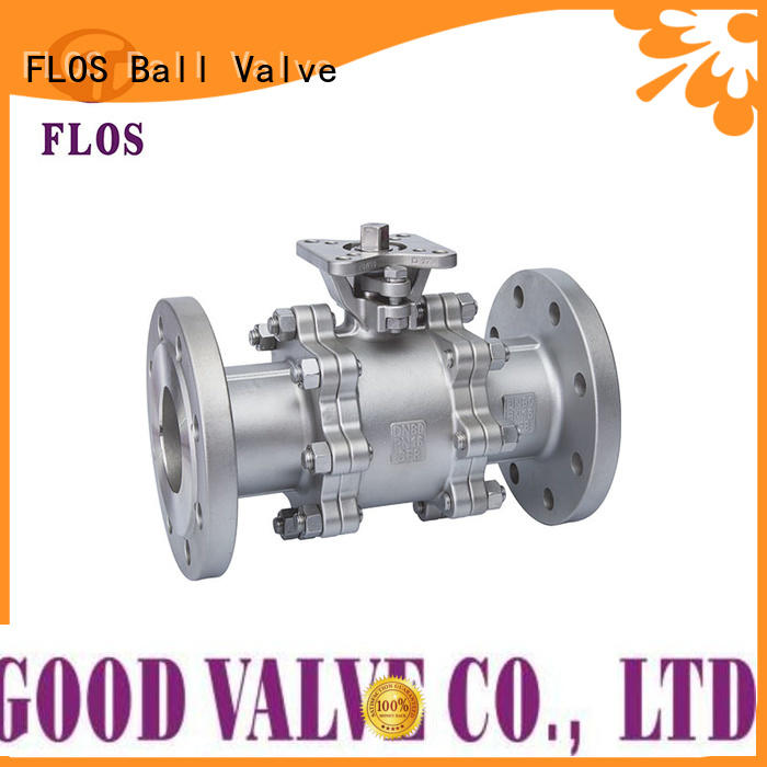 FLOS highplatform 3 piece stainless steel ball valve manufacturers for directing flow