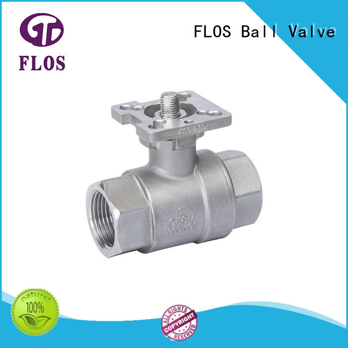 FLOS New two piece ball valve Supply for opening piping flow