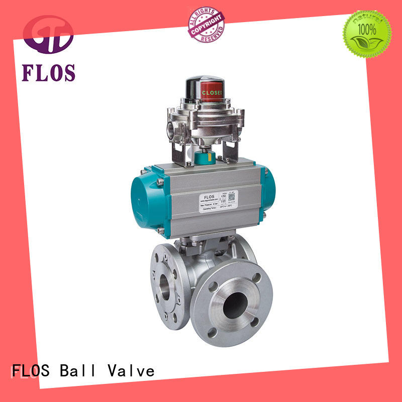 FLOS carbon flanged end ball valve for business for closing piping flow