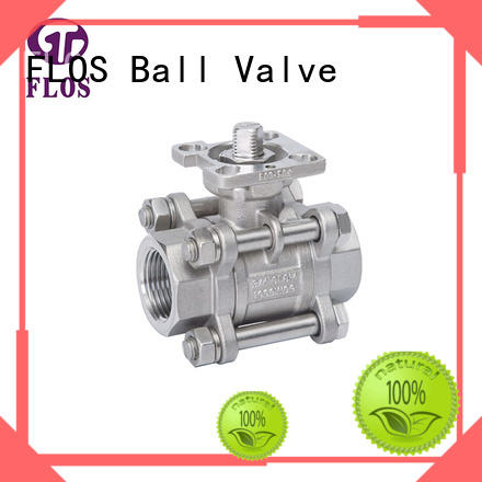 High-quality 3-piece ball valve ends Supply for closing piping flow