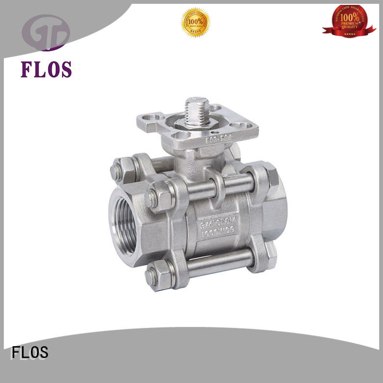 FLOS professional 3 piece stainless steel ball valve manufacturer for opening piping flow