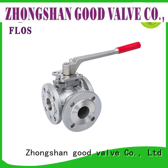 FLOS professional 3 way ball valve supplier for opening piping flow
