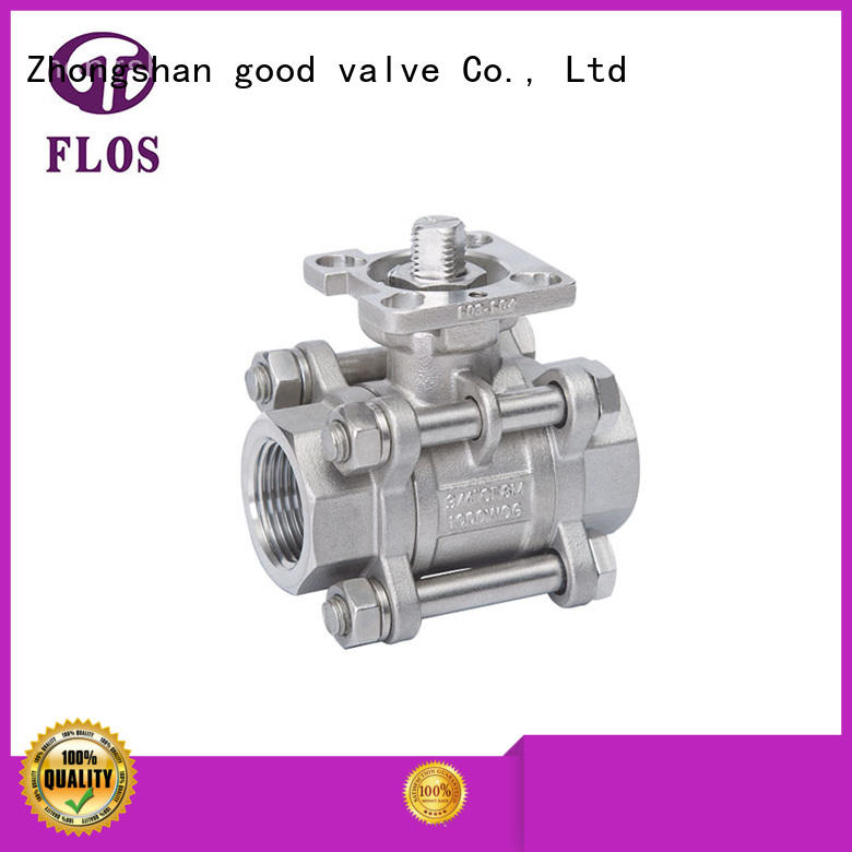 FLOS high quality 3 piece stainless ball valve wholesale for opening piping flow
