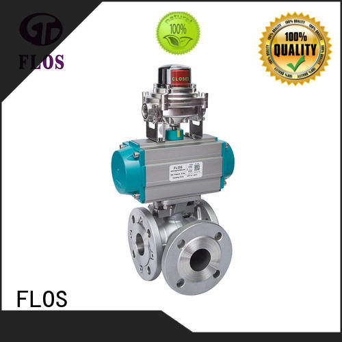 FLOS durable three way ball valve suppliers wholesale for closing piping flow