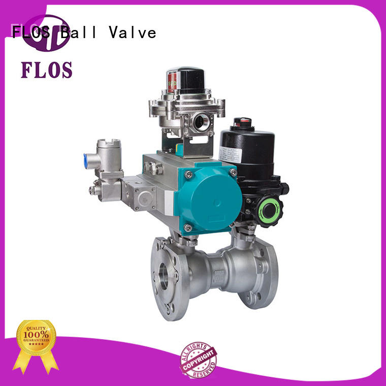 One pc pneumatic-electric stainless steel ball valve /open-close position switch,flanged ends