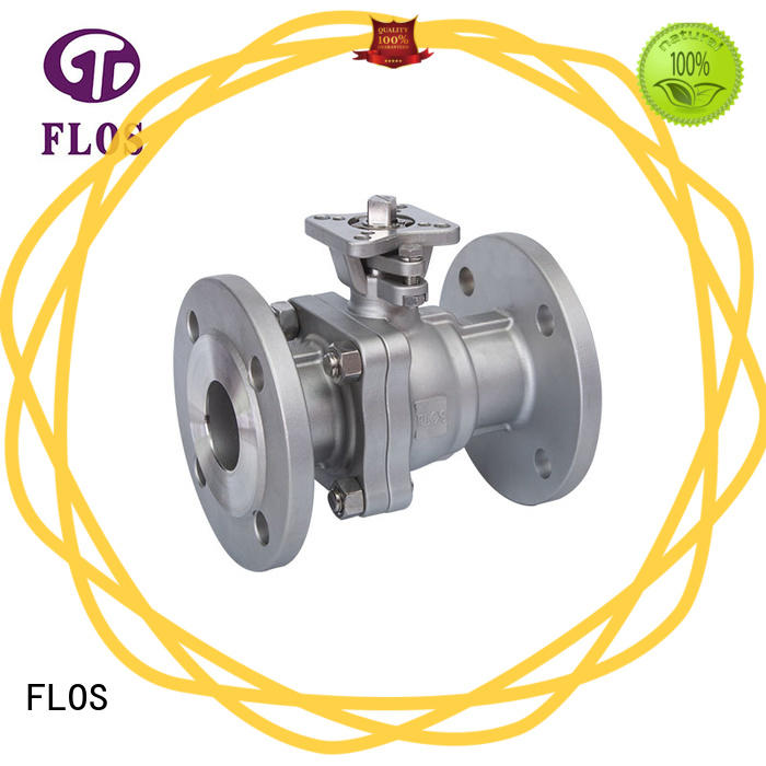 FLOS pneumaticworm 2-piece ball valve manufacturer for opening piping flow