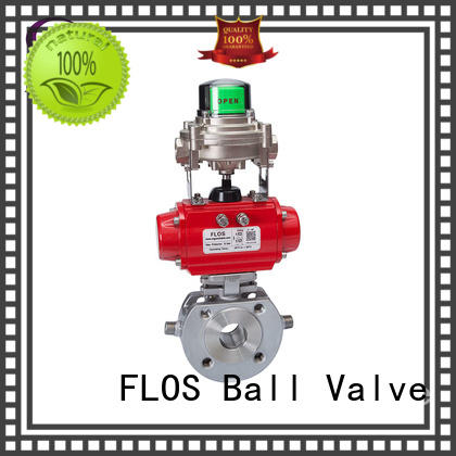 FLOS safety single piece ball valve manufacturer for opening piping flow