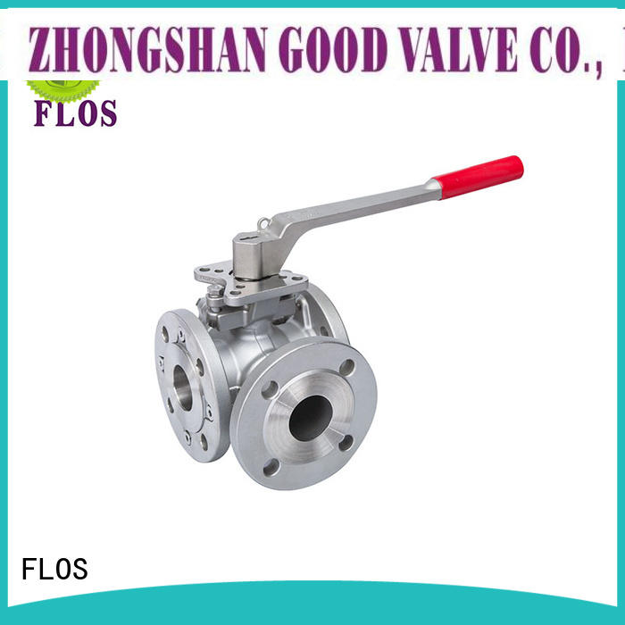 FLOS durable three way valve manufacturer for closing piping flow