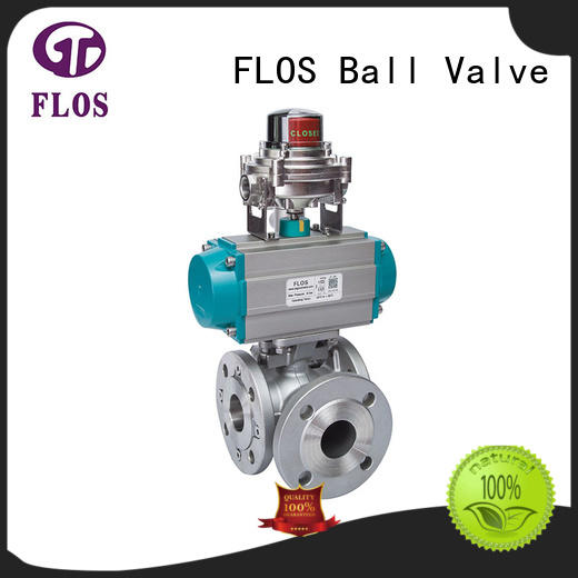 FLOS professional flanged end ball valve supplier for opening piping flow