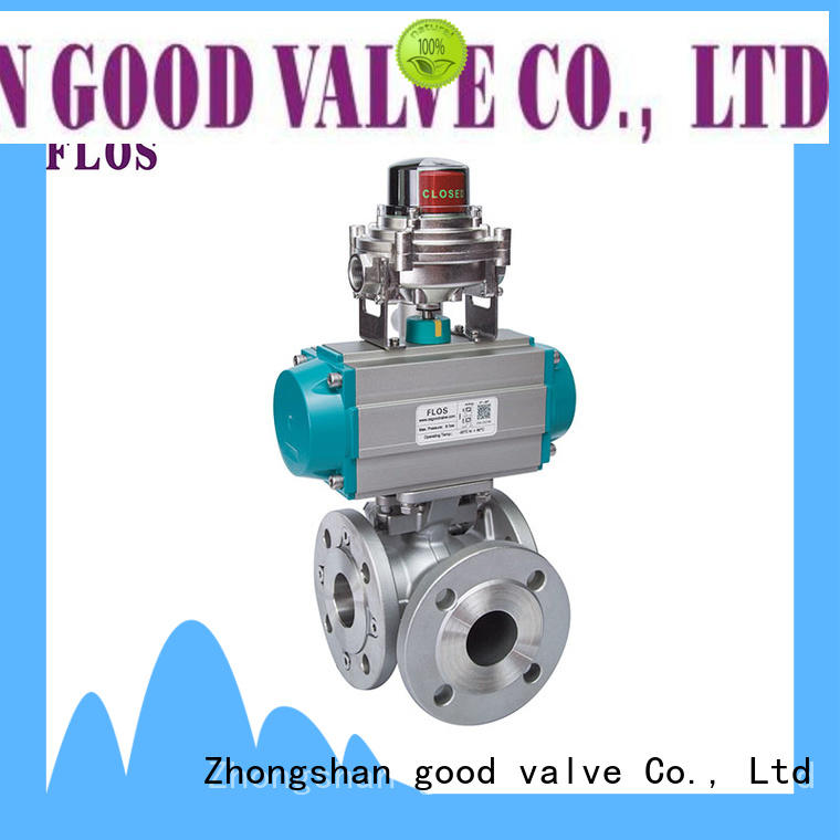 FLOS ball 3 way flanged ball valve manufacturer for closing piping flow