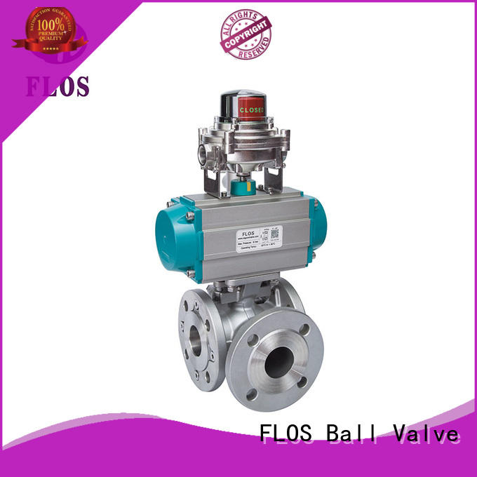 FLOS safety flanged end ball valve supplier for opening piping flow