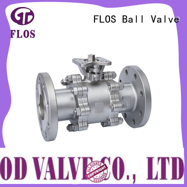 FLOS valve 3-piece ball valve wholesale for closing piping flow