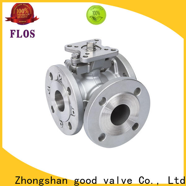 Custom 3 way flanged ball valve pneumaticworm company for closing piping flow