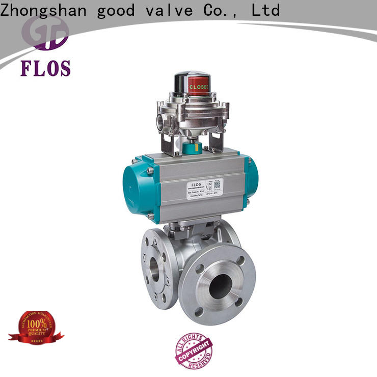 FLOS steel 3 way valves ball valves Supply for closing piping flow