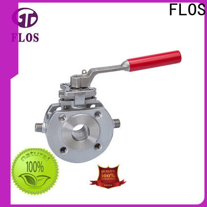 FLOS position one piece ball valve Supply for opening piping flow