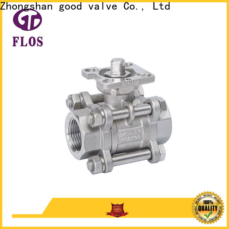 FLOS High-quality 3-piece ball valve Supply for closing piping flow