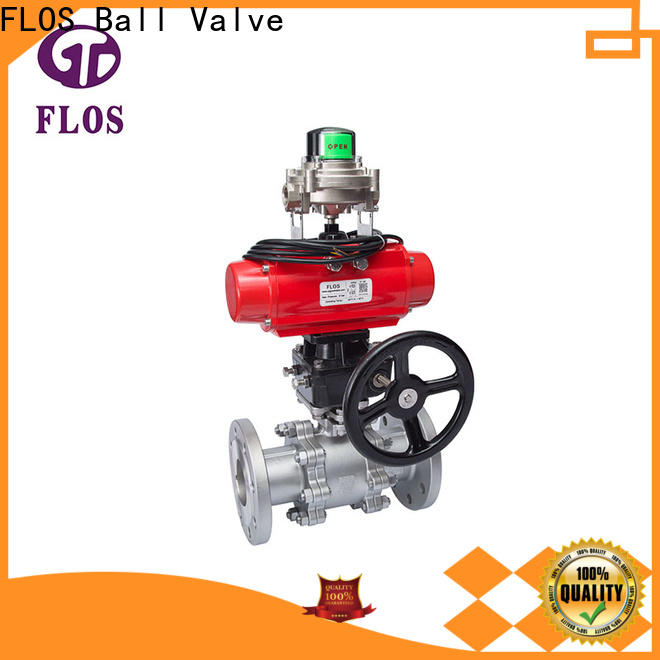 FLOS pneumatic three piece ball valve Suppliers for closing piping flow