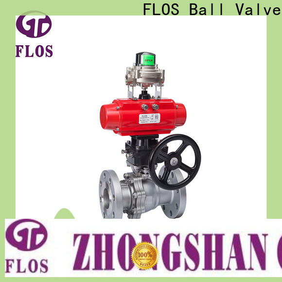 FLOS switchflanged 2 piece stainless steel ball valve for business for opening piping flow