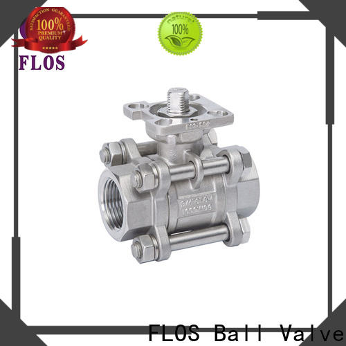 Wholesale 3 piece stainless ball valve ends company for closing piping flow