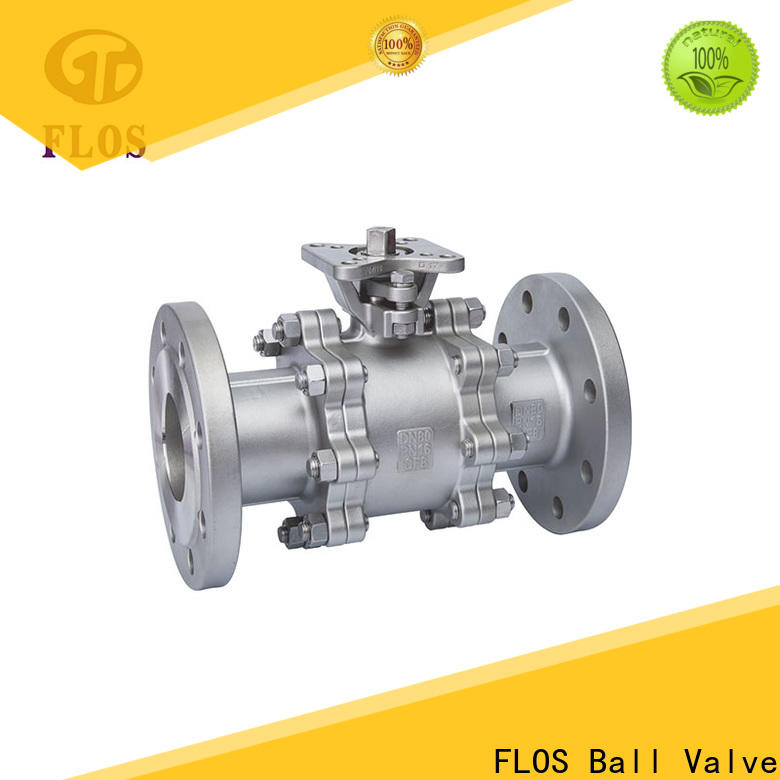 Custom 3-piece ball valve flanged factory for directing flow