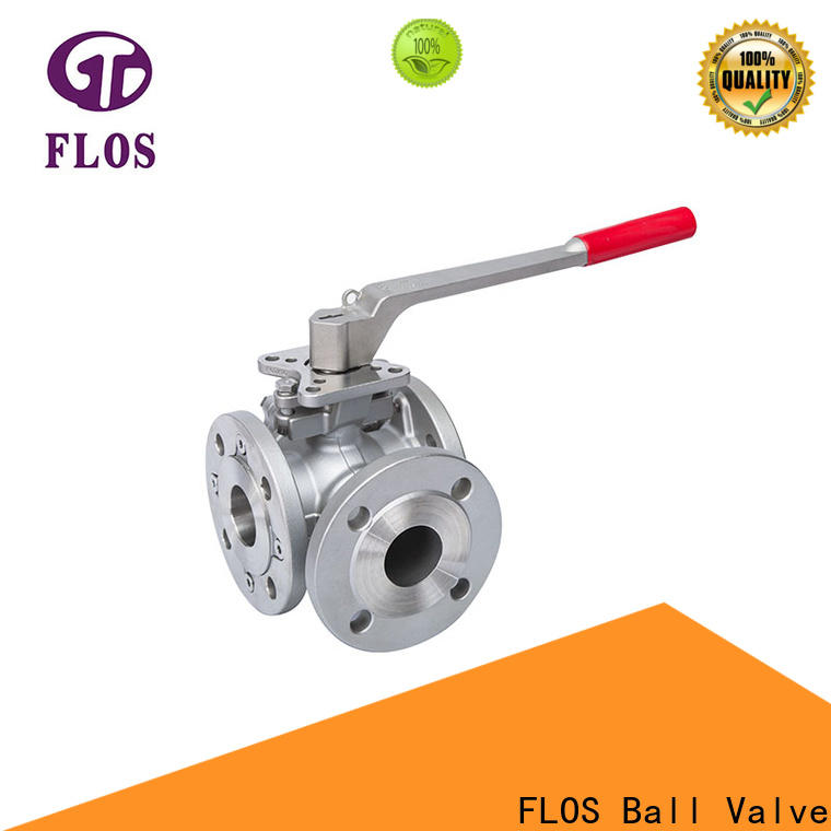 FLOS carbon 3 way valve factory for closing piping flow