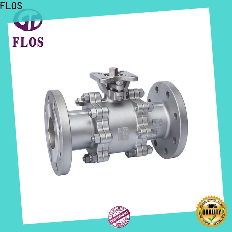 FLOS valvethreaded 3-piece ball valve company for opening piping flow