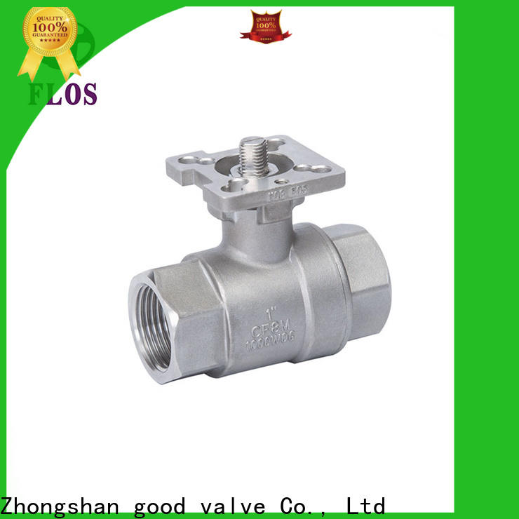 FLOS Wholesale 2 piece stainless steel ball valve manufacturers for opening piping flow