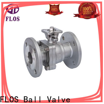 FLOS position two piece ball valve Supply for opening piping flow