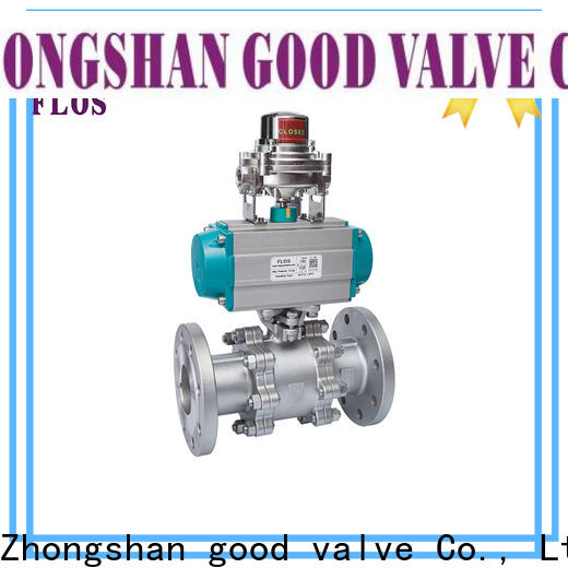 Best 3 piece stainless ball valve flanged Supply for closing piping flow