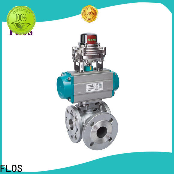 FLOS Latest 3 way flanged ball valve manufacturers for opening piping flow