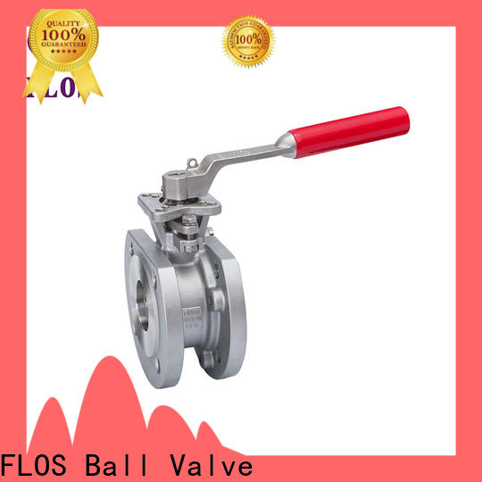 FLOS economic single piece ball valve Supply for closing piping flow
