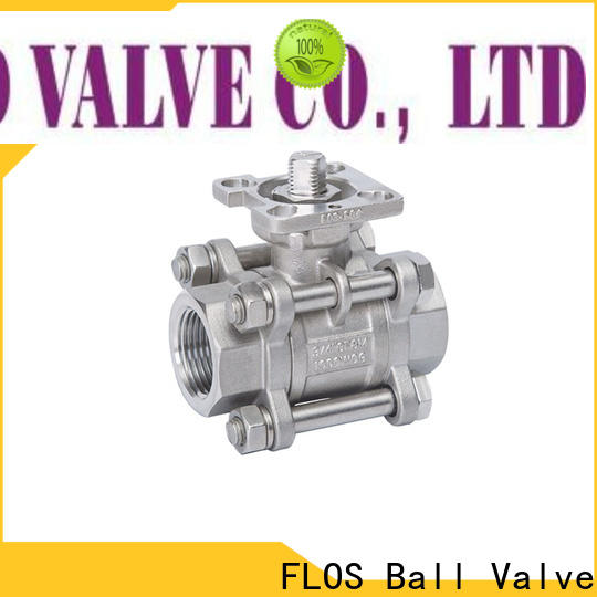 FLOS pneumatic three piece ball valve manufacturers for directing flow