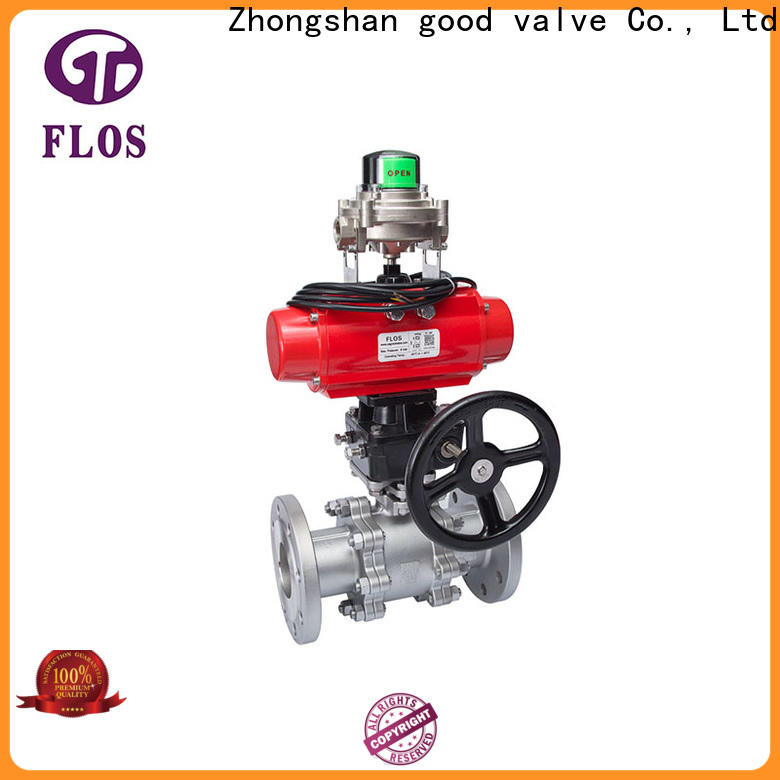 Custom 3 piece stainless ball valve switchflanged Suppliers for opening piping flow